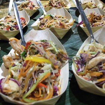 Thai Chicken Salad Boats